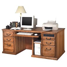 Huntington Oxford Double Pedestal Computer Desk