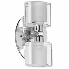 Oval Glass 2 Light Bath Vanity Light