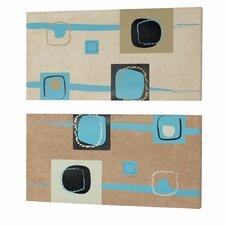 Square 2 Peice Painting Print Set (Set of 2)