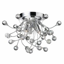 Crystal Buds 3 Light Flush Mount in Polished Chrome