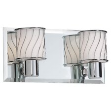 <strong>Dainolite</strong> Bevelled Mirror 2 Light Bath Vanity Light