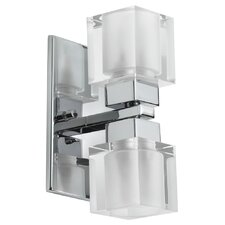 New Era Glass Cube 2 Light Vanity Light