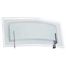 Clear/Frosted Glass 1 Light Vanity Light