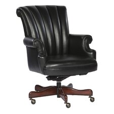 Ribbed Leather Executive Office Chair