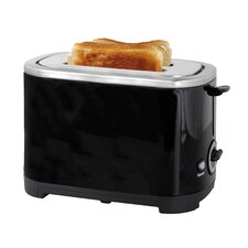2 Slice Toaster in Black Steel