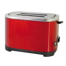 2 Slice Toaster in Red Steel