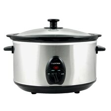 3.5 Litre Oval Slow Cooker in Brushed Stainless Steel