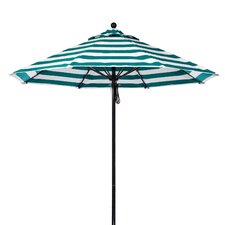 9' Fiberglass Striped Market Umbrella