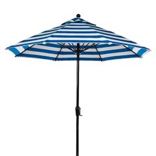 <strong>Frankford Umbrellas</strong> 9' Fiberglass Crank-up Striped Market Umbrella