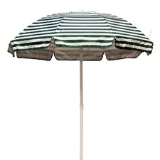 6' Lifeguard Striped Solar Reflective Beach Umbrella