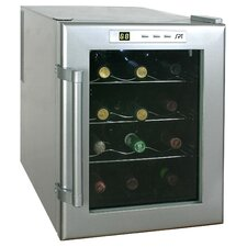 12 Bottle Wine Single Zone Thermoelectric Wine Refrigerator