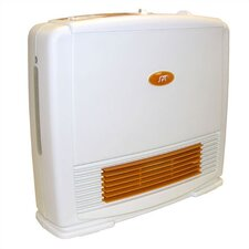Ceramic Compact Upright Space Heater with Humidifier and Thermostat
