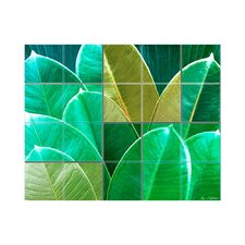 Leaves Kitchen Tile Mural in Multi-Colored