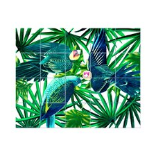 Parrots Kitchen Tile Mural in Multi-Colored