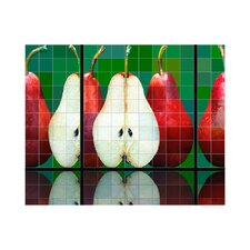 Pears Kitchen Tile Mural in Multi-Colored