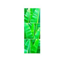 Tropical Greens Shower Tile Mural in Multi-Colored