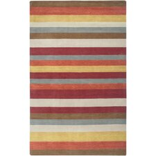 Platoon Red Striped Rug