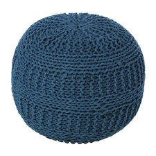 Dahl Color Cable Knit Ottoman