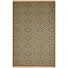 <strong>Rizzy Home</strong> Swing Blue/Tan Rug