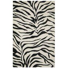 Volare Black/Ivory Zebra Print Rug