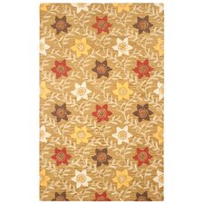 Country Brown/Gold Bubblerary Rug