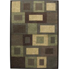 <strong>Rizzy Home</strong> Sorrento Brown/Green Rug