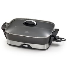 "16"" Electric Skillet with Lid"