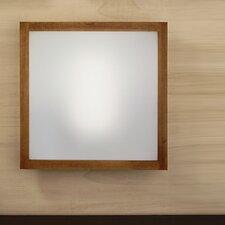 Wood Frame 1 Light Flush Light