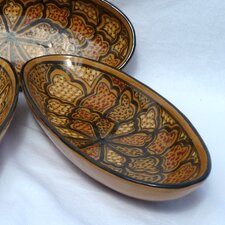 "<strong>Le Souk Ceramique</strong> Honey Design 4.5"" Oval Platter (Set of 4)"