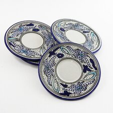"Aqua Fish Design 7"" Saucers (Set of 4)"