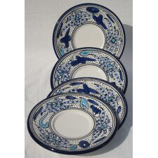 <strong>Le Souk Ceramique</strong> Aqua Fish Design Saucers (Set of 4)