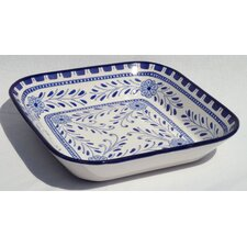 "<strong>Le Souk Ceramique</strong> Azoura Design 12"" Square Serving Bowl"