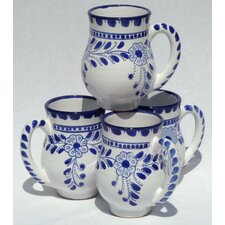 <strong>Le Souk Ceramique</strong> Azoura Design 16 oz. Large Mug (Set of 4)