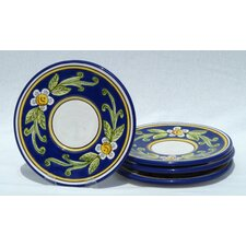 "Citronique Design 7"" Saucers (Set of 4)"