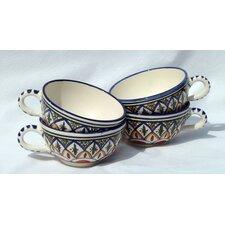 Tabarka Design 14 oz. Latte and Soup Mug (Set of 4)