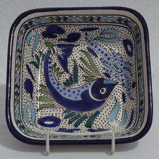 "Aqua Fish Design 8"" Bowl (Set of 4)"