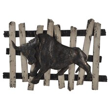 Metal Bull Wall Decor