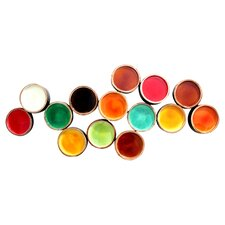 Colorful Metal Circles Wall Decor