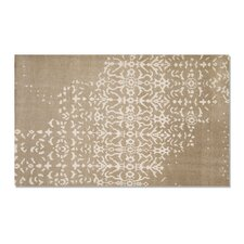 Fringe Sand White/Gray Area Rug