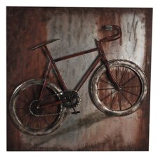 Metal Single Bike Wall Décor