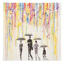 Rainshine Painting Print on Wrapped Canvas