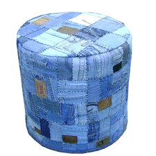Patch Leather Ottoman