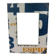 Number Distressed Mirror
