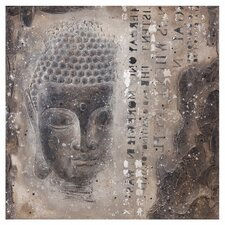 Subtle Buddha II Graphic Art on Canvas