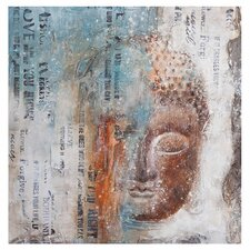 Color Buddha Painting Print on Canvas