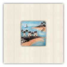 Ocean House Painting Print on Canvas