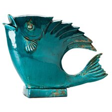 Big Fish Teal Statue (Set of 2)