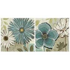 Blue Daisy Wall Decor (Set of 2)