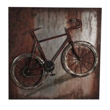 Metal Single Bike Wall Decor