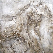 Horse Painting Print Art on Canvas